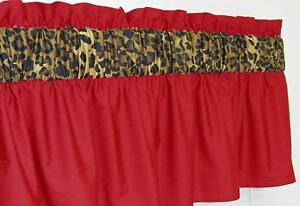 ~ 3 in Wide Rod Pocket ~ Red Cheetah Leopard Window Curtain Valance $15.99 eBay