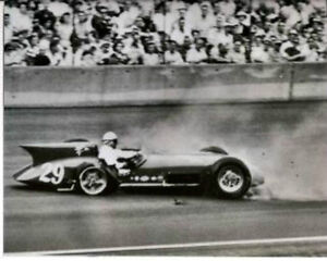 Image Is Loading PAUL RUSSO NOVI WRECK 1ST TURN 1956 INDY