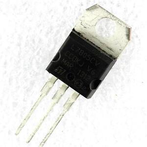 10pcs ic l7805cv l7805 7805 to 220 voltage regulator 5v st new