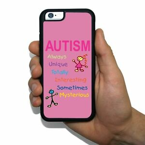 "Autism Awareness - ""A-U-T-I-S-M"" Rubber Case for iPhone / Galaxy / Note /Edge"