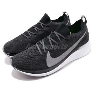 newest 97bcc 70f0a Image is loading Nike-Zoom-Fly-FK-Flyknit-Black-Grey-White-