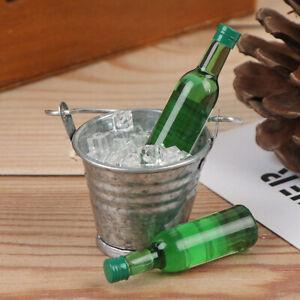 1-12-Dollhouse-Miniature-Wine-Bottles-Ice-Cube-Bucket-set-Doll-House-AccessoPJU