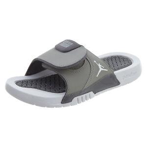 new concept 614df 386fe Details about Jordan Hydro XI 11 Retro Big Kids AJ0022-004 Gunsmoke Grey  Slide Sandals Size 6