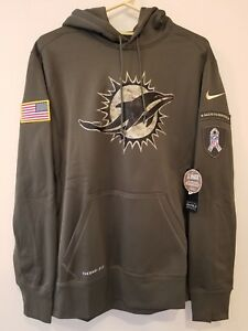 size 40 edbc9 78067 Details about MIAMI DOLPHINS Nike 2015 Salute to Service Hoodie 3XL --  AWESOME !!!!