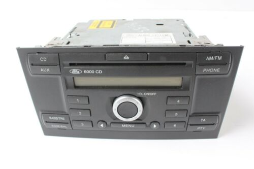 2003-2007 planos inclinados visteon Autorradio single CD 6000 CD con código Ford Mondeo mk3