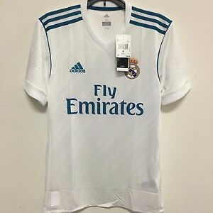 3439b59fe09 Image is loading adidas-Real-Madrid-Official-2017-2018-Home-Soccer-