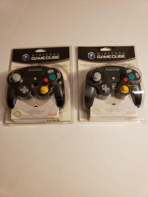 ONE Nintendo Gamecube Controller GCN JET BLACK DOL003 BRAND NEW FACTORY SEALED