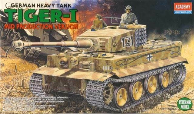 ACADEMY 1 35 CARRO ARMATO GERMAN HEAVY TANK TIGER I MID PRODUCTION VERSION 1387