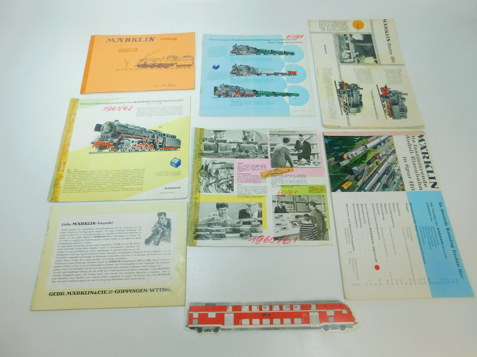 BP446-1 7x   H0 Bastler-Katalog 1951+ 1960/61+1961/62 Ecc. Incompleto