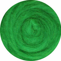 Carded Wool Felting Spinning Craft Hand Spin Wet Needle Felt- Bright Green Grass