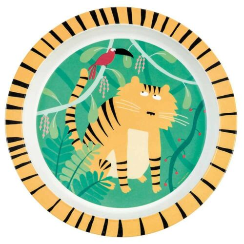 Petit Jour Paris Dschungel Tiger Teller aus Melamin