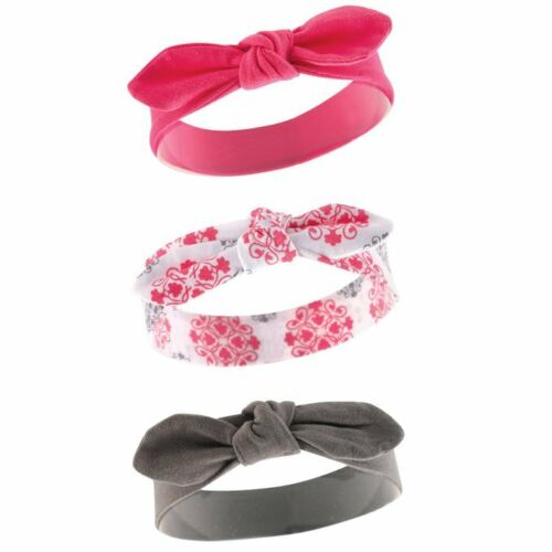 YOGA SPROUT BABY GIRLS 3 PACK COTTON HEADBANDS 12-24 MONTHS NEW