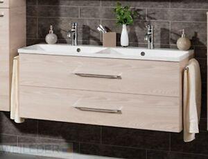 fackelmann badm bel doppelwaschplatz 120 cm mit 2 ausz gen 8 ebay. Black Bedroom Furniture Sets. Home Design Ideas