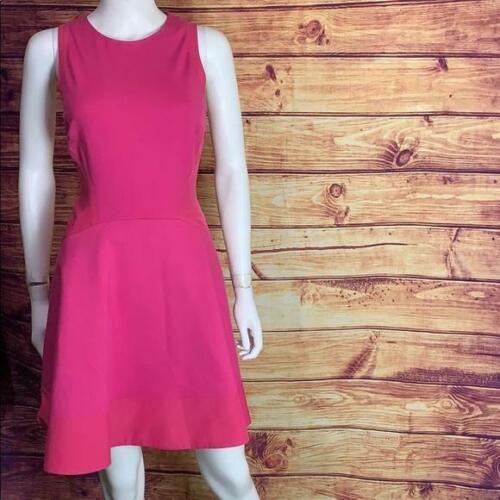 Ted Baker Hot Pink Skater Racerback Mini Dress