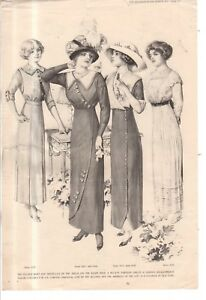 1912-Original-Delineator-Fashion-Print-Tucked-skirts-and-dresses-Bretelles