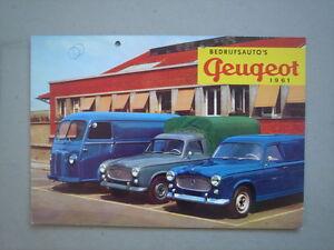 PEUGEOT   Commercial vehicles  brochure/Prospekt  1961.