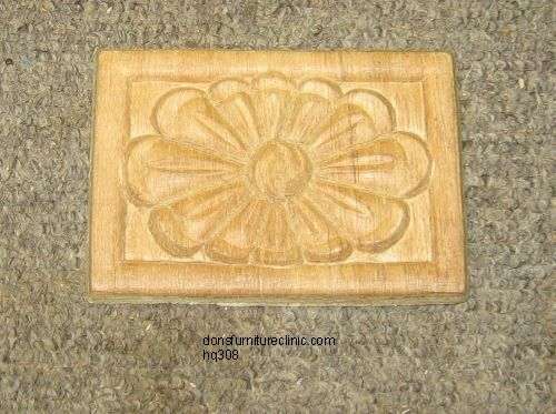 "WOOD EMBOSSED APPLIQUE 4 1//4/"" X 3/""  HQ1216"