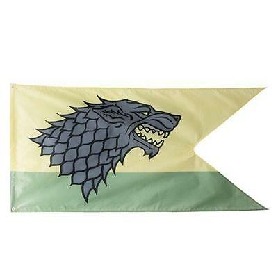 "Game of Thrones XL 60"" LICENSED House STARK DireWolf Sigil OUTDOOR FLAG Banner"