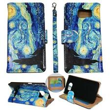 For Samsung Galaxy S6 Ck Wallet Blue Design Cover Case Uni Leather
