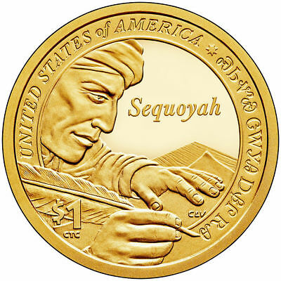 Sacagawea Dollars 2017-P and 2017-D from Mint Rolls