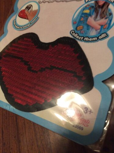 Color Changing STICKY PATCHES Reusable peel /& stick patch RED SEQUIN LIPS