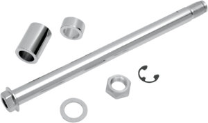 Drag Specialties Chrome Rear Motorcycle Axle Kit 08-17 Harley Dyna FXD FXDB