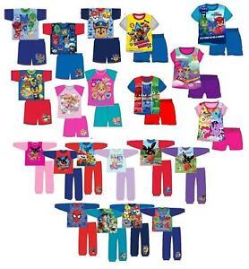 Enfants Filles Garçons Pyjamas Set Longue Court Nightwear Sleepwear Cadeau-afficher Le Titre D'origine Les Catalogues Seront EnvoyéS Sur Demande