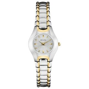 Bulova-Classic-Women-039-s-98T84-Quartz-Silver-and-Gold-Tone-Bracelet-22-5mm-Watch
