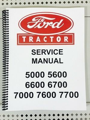 5600 Ford Tractor Technical Service Shop Repair Manual Book