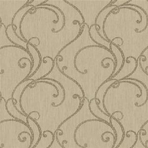 Wallpaper-Designer-Filigree-Scroll-in-Brown-on-Taupe-Beige-Texture