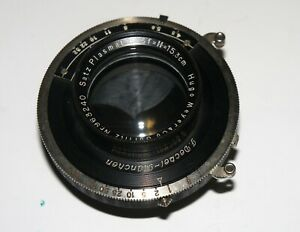 VERY-RARE-HUGO-MEYER-SATZ-PLASMAT-LENS-15-3-cm-F4-5-COVERS-UP-TO-4x5-034-IN-SHUTTER