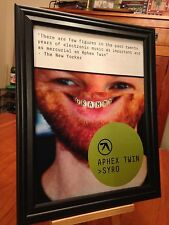"BIG 10x13 FRAMED ORIGINAL APHEX TWIN ""SYRO"" LP ALBUM CD PROMO AD"