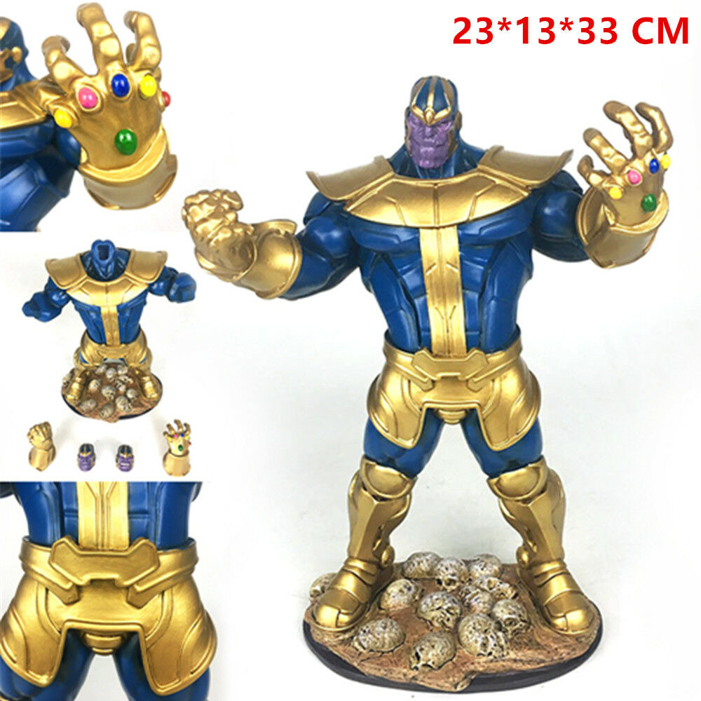 Avenger Infinity War Thanos Gauntlet Figure Resin Action Statue Xmas Toy Gifts