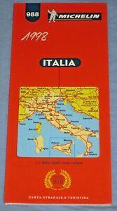 Cartina Stradale Michelin Italia.Italia 988 Michelin Carta Stradale 1998 Atlas Road Map P3 Ebay
