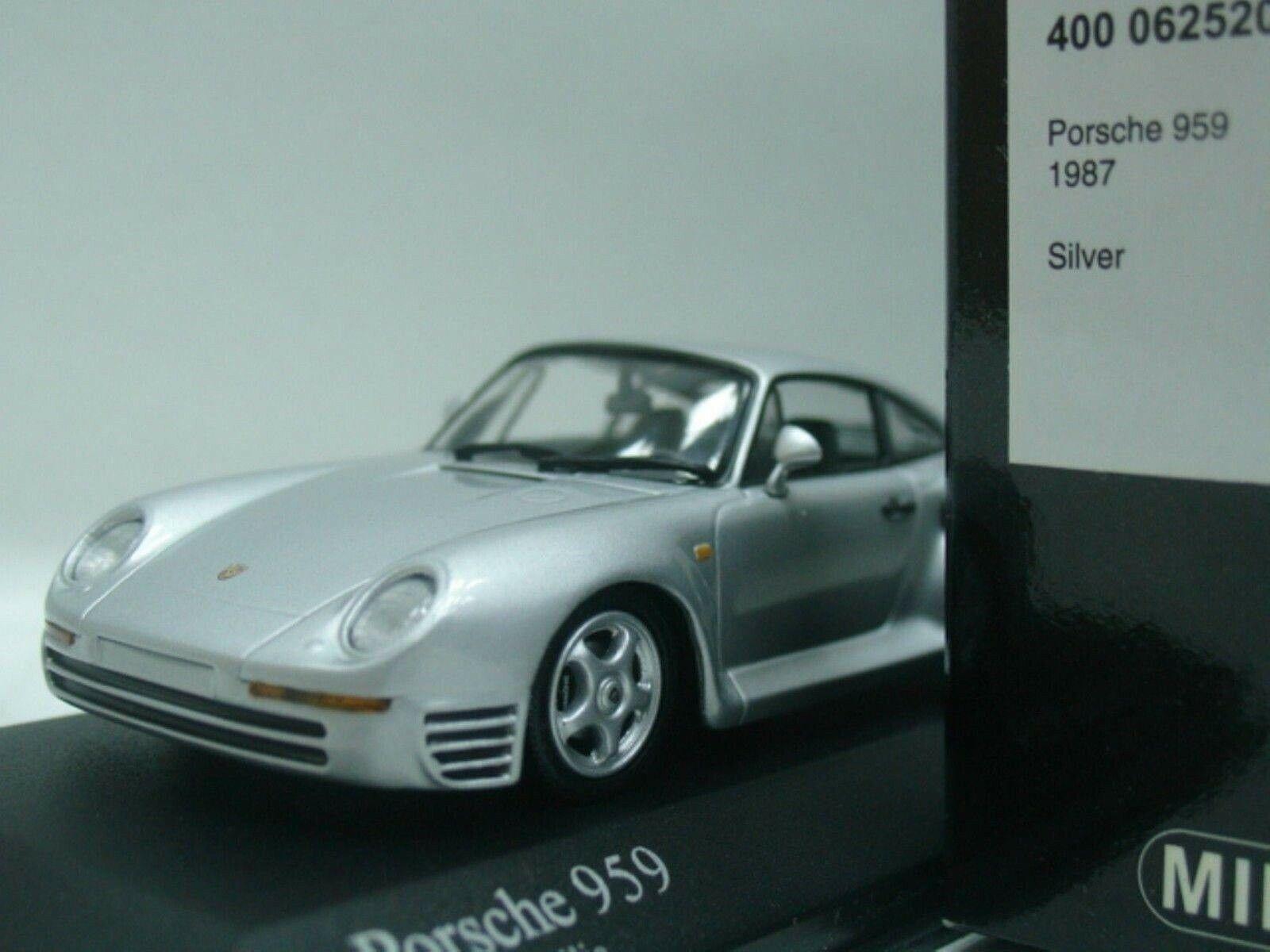 Wow extrêmement rare PORSCHE 959 4x4 450HP 1987 argent 1 43 Minichamps - 911-Spark