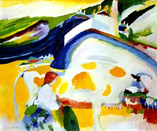 LADY THE COW MILK FARM 1910 ABSTRACT PAINTING BY WASSILY KANDINSKY REPRO