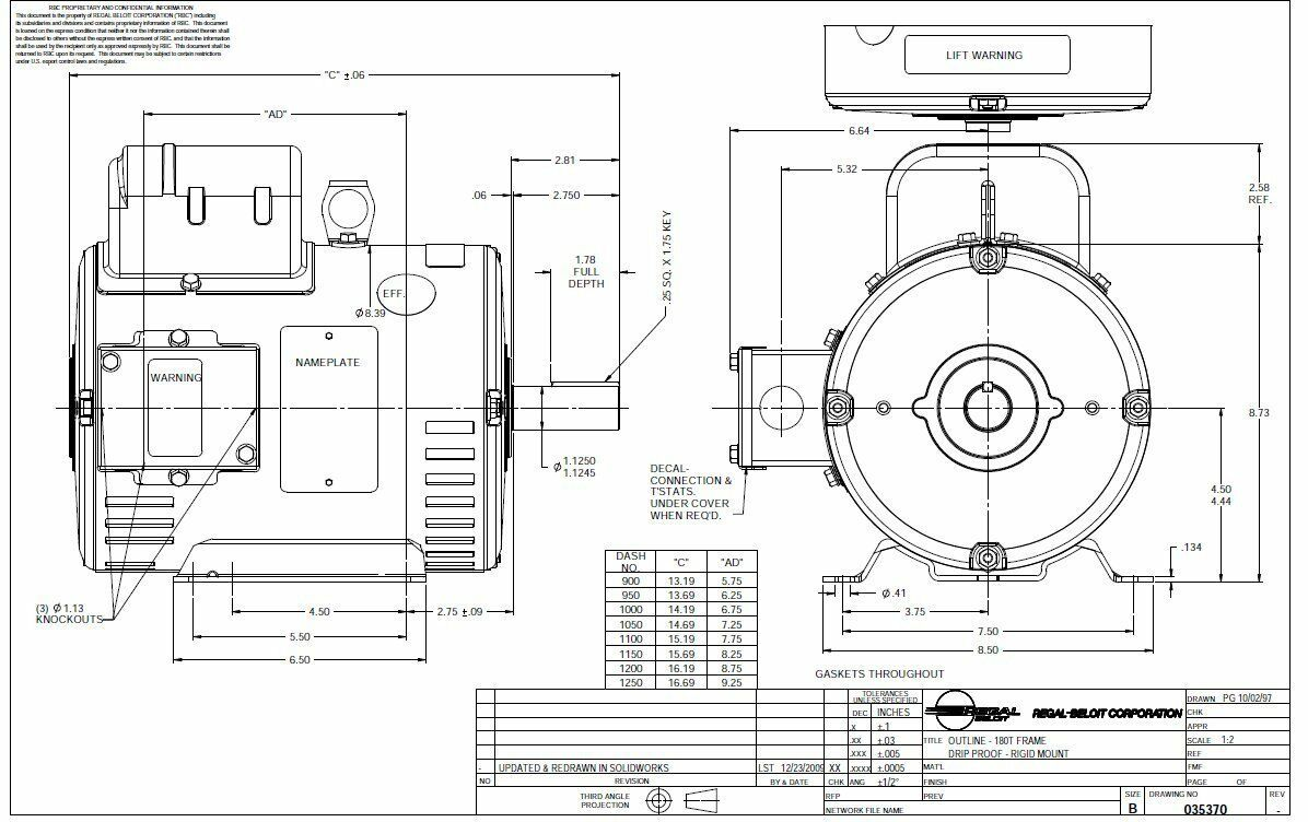 75 Hp Electric Motor For Compressor 184t Frame 3450 Rpm 1 Phase S Fixture Wiring Diagram Single 208 Leeson Ebay