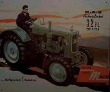 Älteres Blechschild MAN 4x4 Diesel Traktor Agrar Reklame Werbung gebraucht used