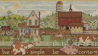 Bucilla Sentiments Live Simple, Be Content Counted Cross Stitch Kit,