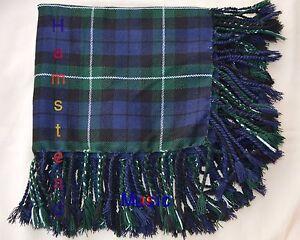 "Scottish Lamont Tartan 48"" x 48"" Purled & Fringed Hand Made Kilt's Fly plaids"