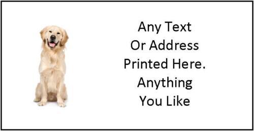 Large Personnalisé Chien adresse postale Craft étiquettes 8 par feuille
