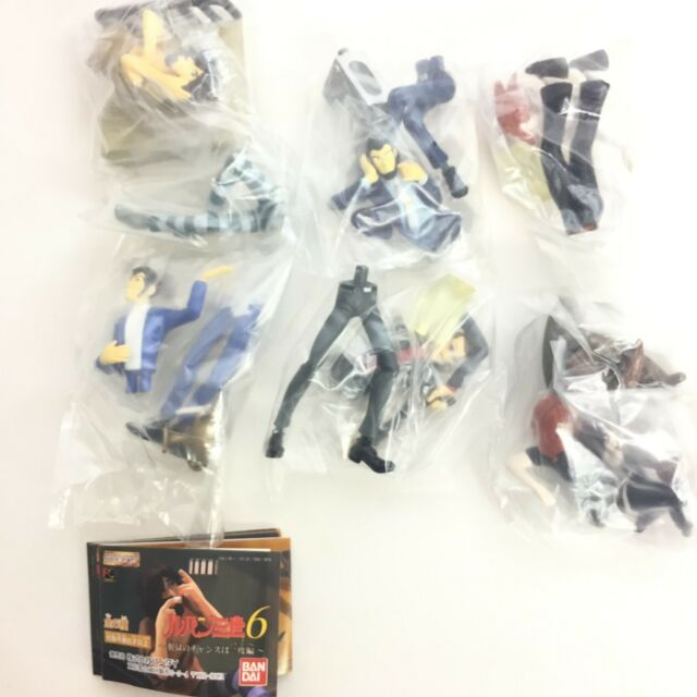 Bandai HG Gashapon Mini Figure Lupin the 3rd vol. 6 6pcs Full Set Japan