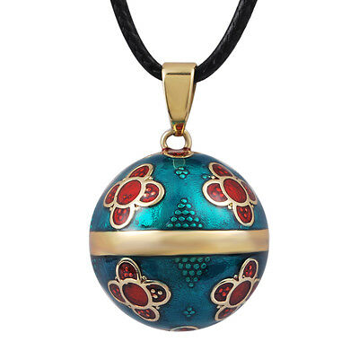 N14NB225 Antique Bola with Sparkles pendant pregnancy bell necklace Mexican Bola