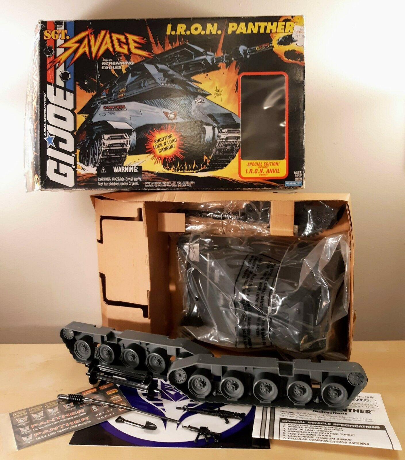 Gi Joe Sgt Savage Hierro Panther G. I. Joe 1995 Vintage Pristina Raro