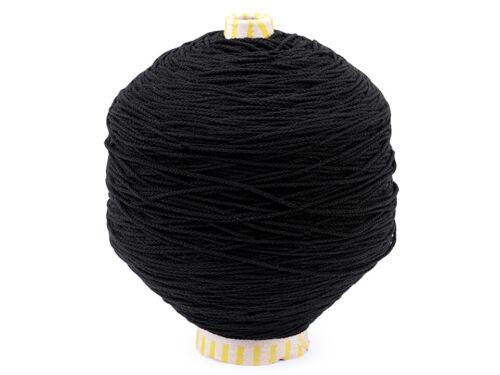 1m Gummikordel weich 2mm Gummiband Hutgummi Gummilitze Maskengummi schwarz