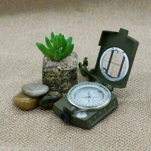 New Professional Military Army Metal Sighting Compass Hiking Camping BEST