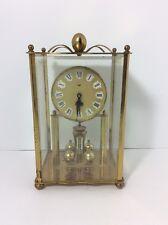 Haller German Mantel Clock 2 Jewels Intact Square Cased Brass Frame - Steampunk