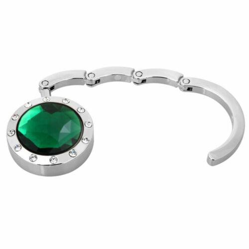 Faltbare Kristall Geldbörse Handtasche Hook Aufhänger Tasche 8 Farben Halte R7L6