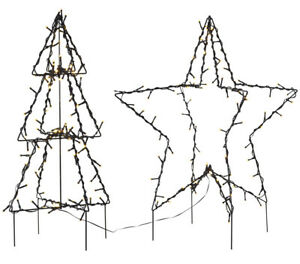 LED 3D Stern Tanne Baum Silhouette schwarz Outdoor IP44 Weihnachten 90 LEDs