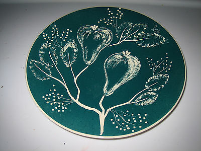 "Ceramic Pear Design 10 1/2"" Decorative Serving Plate"